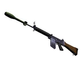 3D FN FAL Battle Rifle R1 variant