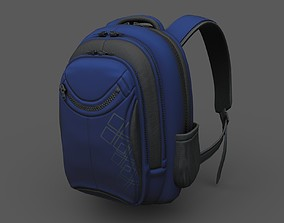 3D asset Backpack human ver5