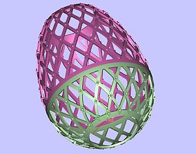 Grid Egg with diamonds 3D printable model