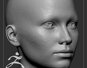 3D Average Caucasian Female Head Basemesh
