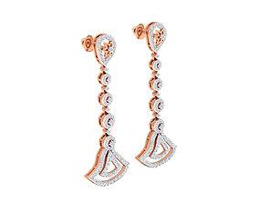Women earrings 3dm stl render detail 3D print 1