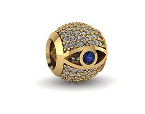 illuminati eye charm ball 3D print model