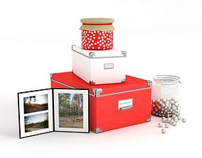 3D Various Containers And A Photo Frame