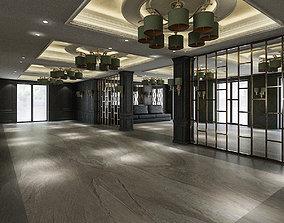 Hotel Lobby 3D asset