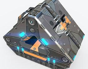 Sci-fi Cyberpunk device - PBR Game Ready 3D model