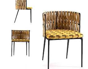 3D model Chair with Armrest Cheerio Yellow