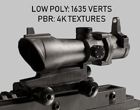 3D model acog scope - low poly PBR