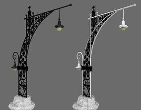 Streetlight Antoni Gaudi i Cornet and Pere 3D model