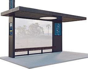 traffic Bus Station 2 3D