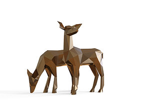 DEER A Miniature Size 3D print model