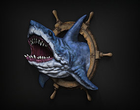 Shark bas relief 3D print model