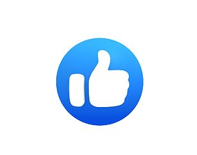 3D asset Animated Facebook Like Button