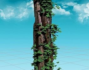Rotten Pine 3D Model realtime