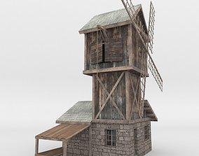 Medieval house mill fantasy Fachwerk 005 VR / AR ready 2