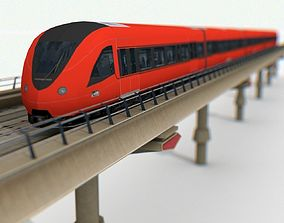 3D model Railway Metro