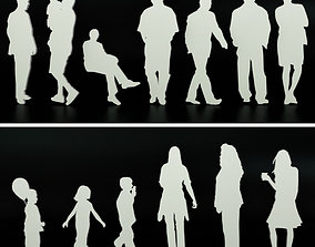 3D People for entourage and staffage