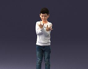 Boy in socks in cool pose 0105 3D Print Ready