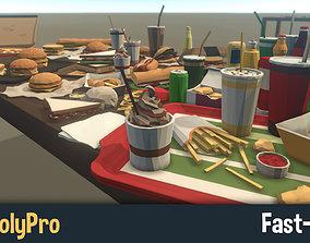 3D model LowPolyPro Fast-foods