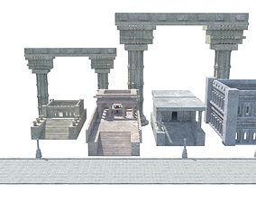 3D model ancient greek roman temples buildings