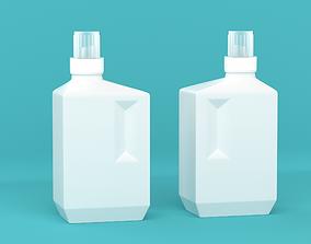 3D Square bottle pot