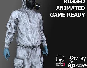 Hazmat Suit 3D asset