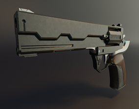 3D Model of Revolver from Cyberpunk 2077