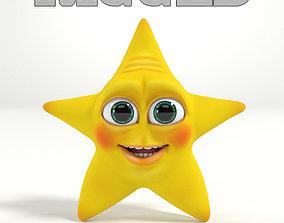 Cartoon Star 3D asset