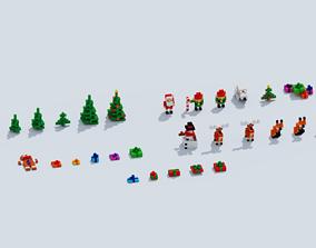 Voxel Xmas story 3D model