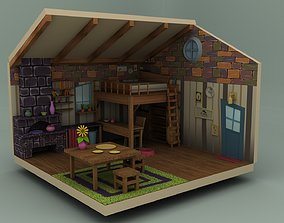 low-poly Cartoon Low Poly 3D House