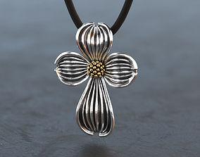 Dogwood Flower Cross 3D printable model