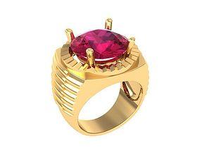 1441 Diamond men ring 3D printable model