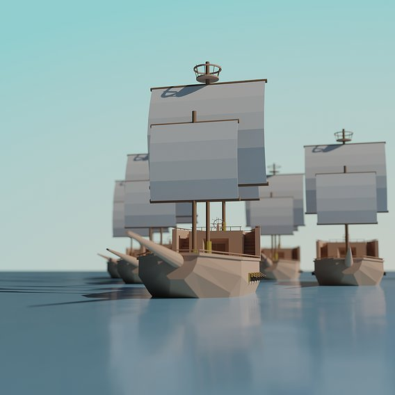 Low Poly Ship