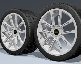 3D model Momo Quantum alloy wheels with PZERO tires