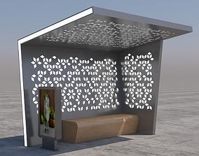 3D Bus Stop Modern 1