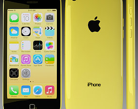Apple iPhone 5c Yellow 3D