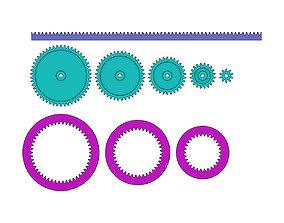 3D print model Mini Spur Gears Metric Set