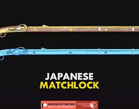 3D model Weapon - Gun - Flintlock - Japanese Matchlock