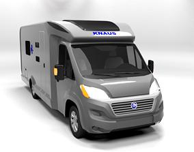 KNAUS CAMPER LOWPOLY 3D model