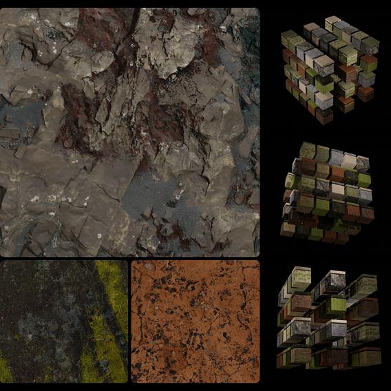 Platform Bricks for Modular Realistic Worlds Low-poly 3D model
