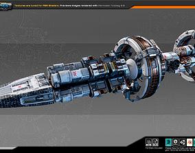 MODULAR Colony StarShip CF3 3D model realtime