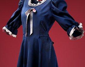 Horror Ghost Dress 3D asset