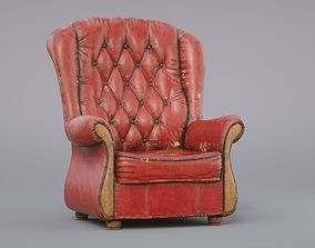Old Armchair 3D model PBR