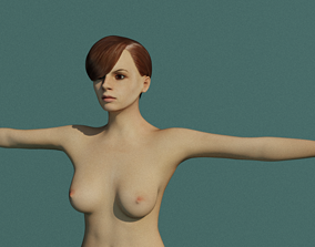 house 3D model rigged VR / AR ready female
