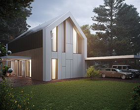 3D model House in the woods
