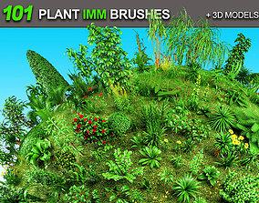 101 Plant IMM Brushes plus 3D Models