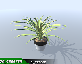 Decorative Potted Plant 3d model greenery