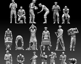 3D printable model workers