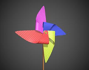 3D asset Colored Pinwheel