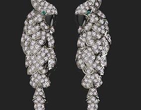 3D print model earrings cartier