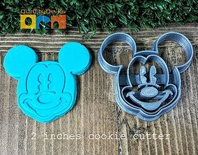 Mickey Mouse cookie cutter 3D printable model